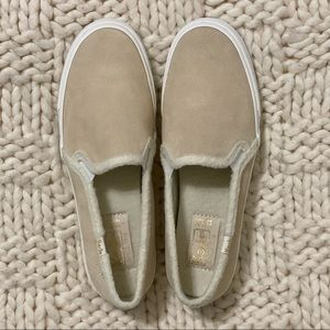 Keds Double Decker Suede Faux Shearling